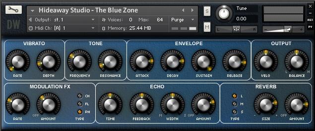 The Blue Zone UI