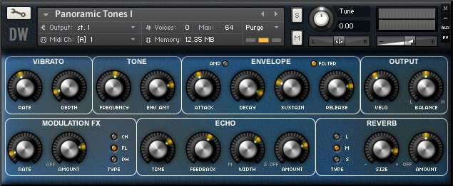 Panoramic Tones GUI